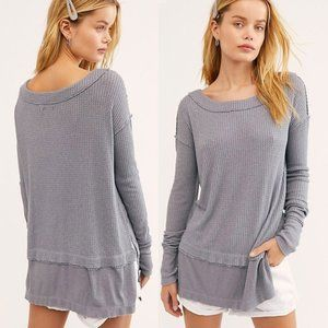 NWT We The Free North Shore Thermal STORM GREY XS